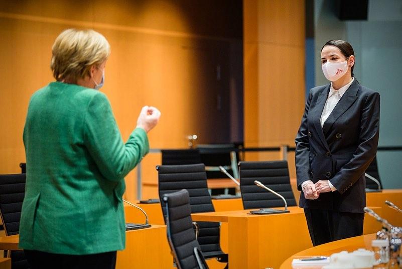 Тихановская рассказала, о чем общалась с Меркель